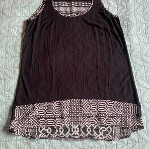 Cache Tops - Women's Dressy Top Cache Black and White Tank-Top